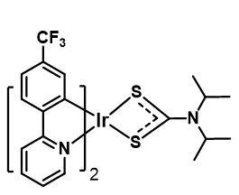 Formula: C31H28N3F6S2Ir